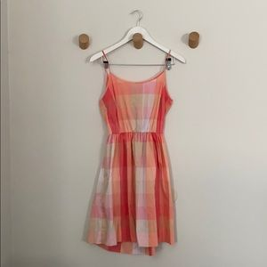 Dresses & Skirts - Gingham pink and coral summer dress